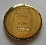 Extra Rare Gold Plated Olympic Participation Medal For Vips Barcelona 1992