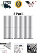 Omgg3 Pcs Silver Stainless Steel Cooking Grates Bbq Smoker Meat 16 1/4x 9 7/8