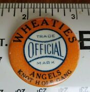 1930's Los Angeles Angels Wheaties Knot Hole Gang Pcl Pacific Coast League Pin