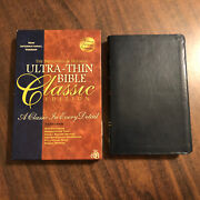 Niv 1984 Ultrathin Reference Bible Classic Ed. - Blue Bonded Leather - Oop 84
