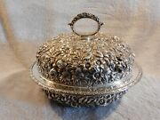 Antique Jacobi And Jenkins Baltimore Sterling Silver Repoussandeacute Lidded Bowl