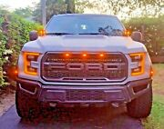2017 2018 2019 2020 Ford Raptor Mandr Dual Cree Hood Mount 80w Kit With Amber Drl
