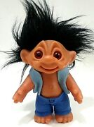 Thomas Dam Troll Doll 1977 Beautiful Condition 9 With Hair 6.5 To Forehead