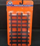 New Lionel Ready To Play Straight Track Train Track 12 Pieces 7-11826 G Scale