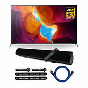 Sony X950h 75 Inch Full Array Led 4k Ultra Hd Hdr Android Smart Tv Bundle
