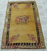 Big Sale 1880 Antique Highly Collectible Ghiordes/gordes Handmade Rug 3ft X5ft