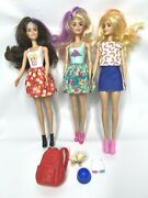 Barbie Color Reveal Dolls Lot Of 3 With Wigs Clothes Shoes Puppy Backpack 2019