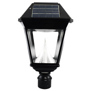 Imperial Ii Solar Black Outdoor Integrated Led Post Light On 3 In. Fitter With 2