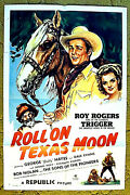 Roy Rogers And Trigger Dale Evans Gabby Hayes 1946 Poster - Roll On Texas Moon