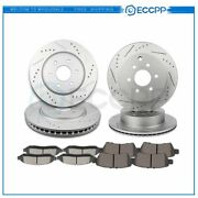 Ceramic Brake Pads And Rotors Front Rear For 2005 2006-2012 Nissan Pathfinder