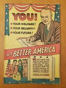 You In A Better America Rnc 1954 Eisenhower Political Giveaway Comic Rare