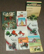 Ertl 1/64 Vintage Lot Of 10 Mixed Makers Tractors Implements Loose Carded Nice