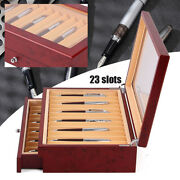 Pen Box Fountain Pens Case Display Box Writing Wood Constructed Large Capacity