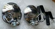 Porsche 911s 911 Early Driving Lights Kit W/ Grills And Mounts. Reproduction.