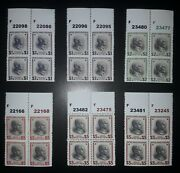 Usa. 1938. Presidential Issue. Reproduction. Copy. Replica. 6 Blocks Of 4.