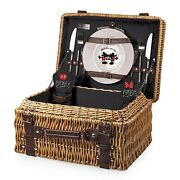 Picnic Time® Mickey And Minnie Mouse Champion Picnic Basket + 3pc Cheeseboard Set