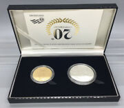 American Eagle 20th Anniversary Gold And Silver Coin Set With Box And Coa