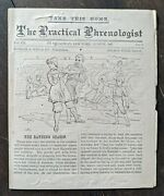 Phrenology Report Book And Magazine Wells Sizer Vintage Lot 1880and039s Physiognomy