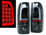 Pair Black C-bar Led Taillights For 97-03 Ford F150 / 99-07 F250 F350 Superduty