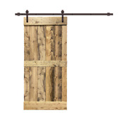 Interior Sliding Barn Door Hardware Kit 24 In. X 84 In. Weather Oak