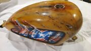 04-16 Harley Sportster Efi Custom Patina Gas Fuel Tank Left Right Side Cover