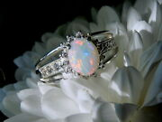 Coober Pedy Opal Ring Size Uk N 1/4 Us 6 3/4