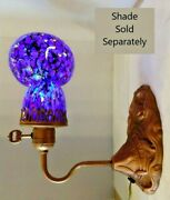 Vtg Art Deco Nouveau Arts And Craft Water Lilies Wall Sconce Lamp Base 1900-1940