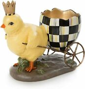 Mackenzie-childs Which Came First Chicken And Egg Carriage Resin Decorations