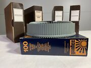 Lot Of 5 Vertical Rotary Carousels Slide Trays Holders 100 Box Vintage Vtg A