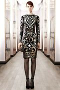 Emilio Pucci Fall12 Runway Gold Metallic Embroidered Tulle Dress It40