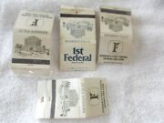 Durham North Carolinaand039s First Federal Savings And Loan-4 Vintage Match Book Covers