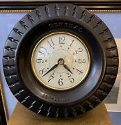1950and039s General Tire Advertising Clock On Stand Clock Movement By Sessions
