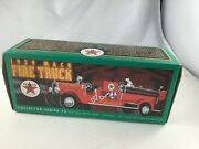 Texaco 1929 Mack Fire Truck Series 15 W/fire Chief Hat And Dalmatians Vintage 1998