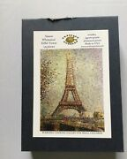 Artifact Puzzles 135 Piece Wooden Jigsaw Puzzle Seurat Whimsical Eiffel Tower