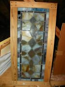 Antique Vintage Stained Glass Panel From Demolished Historic Church Charlotte Nc