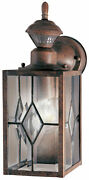 Heath Zenith Light 8-9/32h Outdoor Wall Sconce Brown Motion Sensor Activated