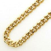 18k Yellow Gold Necklace About51cm Curb Chain About29.7g Free Shipping Used