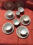 13 Pc Cepelia Opole Hand Chodziez Painted Floral Cup And Saucer