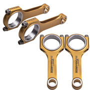 4x Titanizing Connecting Rod+arp Bolt For Gm Chevrolet Buick With Long Warranty