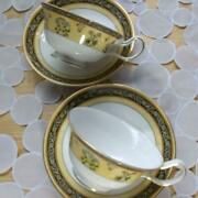 Wedgewood India Set Of 2 Pair Cup And Saucer Bone China England Made Tableware