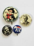 Lot Of 4 Authentic Vintage Political Buttons Wilson, Pinchot, Coolidge And Gum