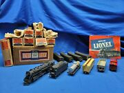 Lionel Oo Gauge 0080 Steam Locomotive Freight Set With Boxes - 001 Loco