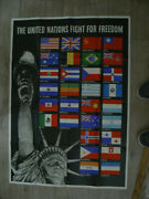 Ww Ii Poster The United Nations Fight For Freedom Owi 19 1942