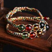 Colorful Beads Bracelet Hand Woven Five Element Pearl Transfer Us Colorful K1e6