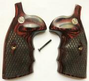 Smith And Wesson Sandw K/l/x Frame Grips Round Butt Rosewood Spanish Diamond Design