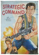 African Movie Poster Ghana Hand Painted Canvas Strategic Command