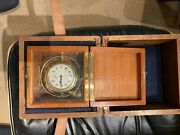 Waltham Chronometer Ww2 - With Two Wooden Boxes