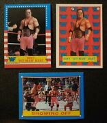 1987 Topps Wwf Bret Hitman Hart Rc 3 Rookie Card Lot Invest 🔥 🔥