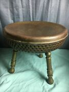 Vintage Brass Chair With 3 Legs