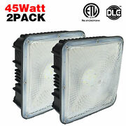 45w Led Gas Station Canopy Lightoutdoor Security Ceiling Lamp For Wet Locations